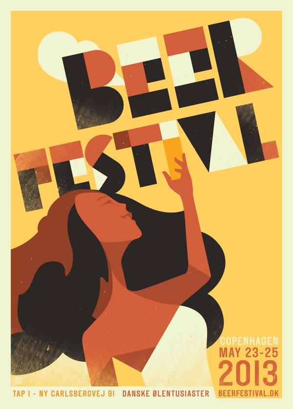 poster van een bierfestival in Kopenhagen