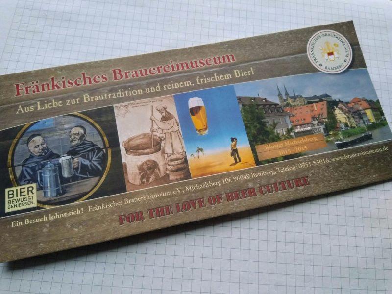 Flyer van het Fränkische Brauereimuseum in Bamberg
