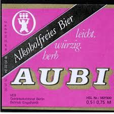 etiket AUBI alcoholvrij bier