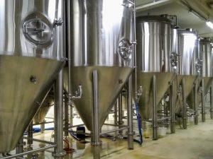 vergistingstanks in een Nederlandse onafhankelijke brouwerij