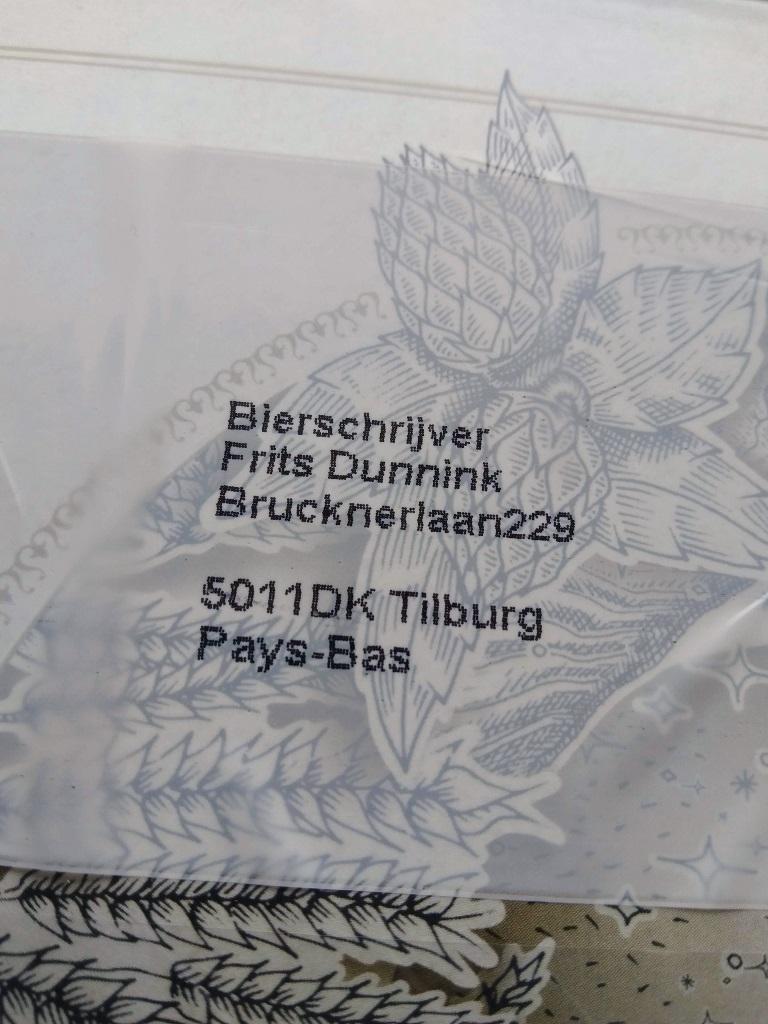 Adressering van het bedrijf Bierschrijver
