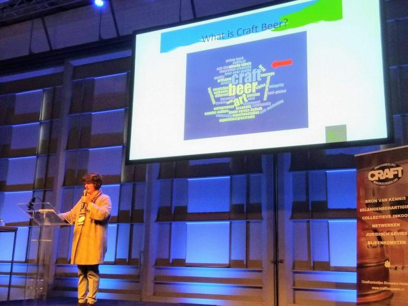 Ina Verstl tijdens haar speech #DCBC2020