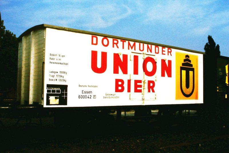 Treinwagon van brouwerij Dortmunder Union