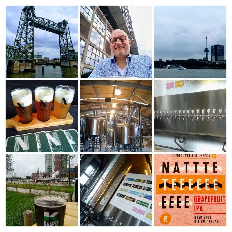 collega met afbeeldingen die een indruk geven van een bezoek aan bierstad Rotterdam