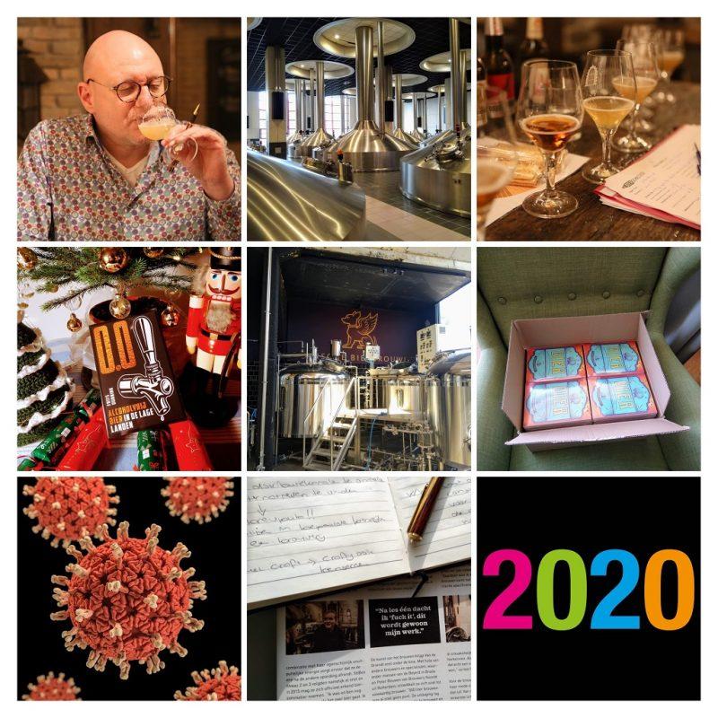 collage met indrukken van mijn bierjaar 2020