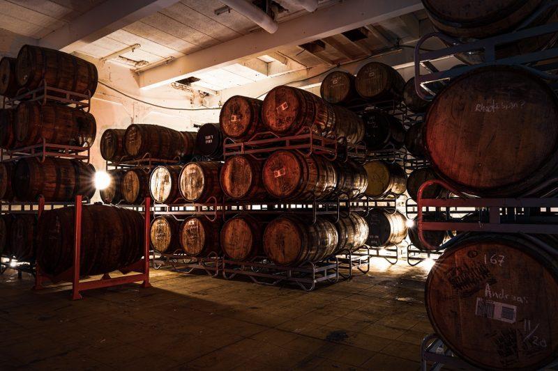 barrel aged bier bij brouwerij Frontaal