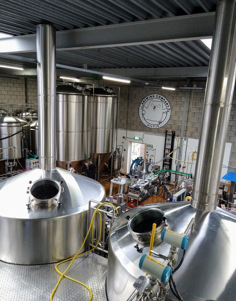 Brouwzaal van Uiltje Brewing Company in Haarlem